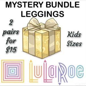 NWT LuLaRoe KIDS Leggings 2 for $15 MYSTERY Box